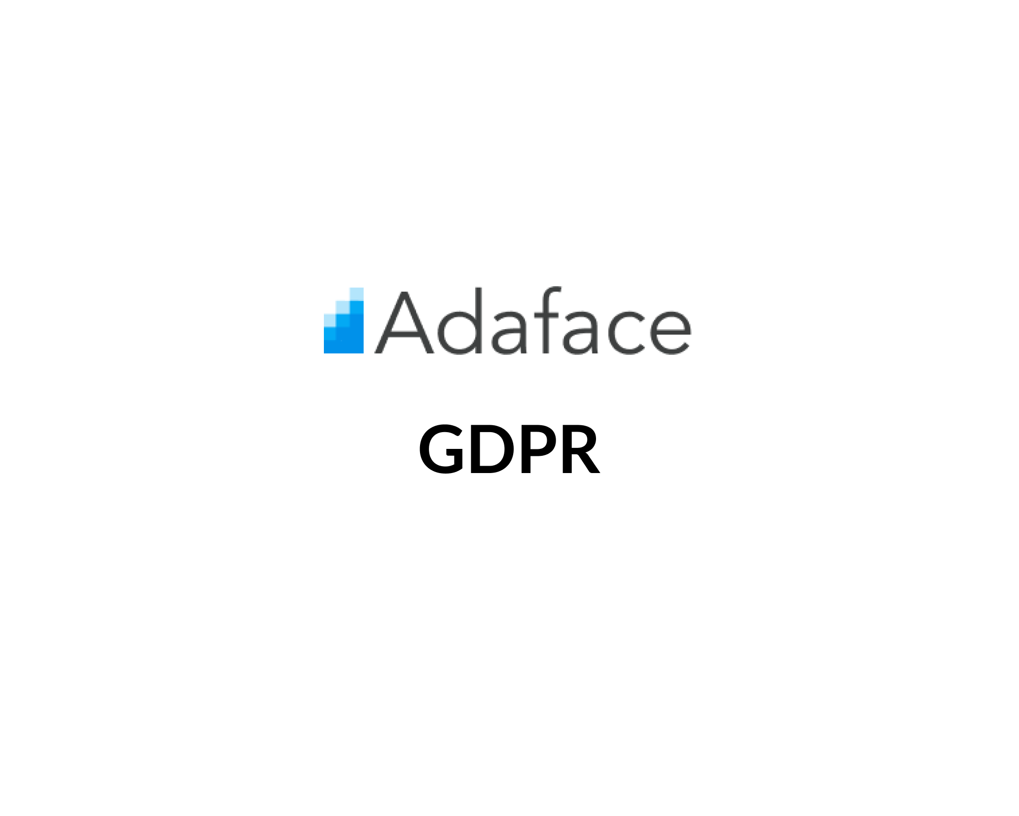 Adaface GDPR Information image