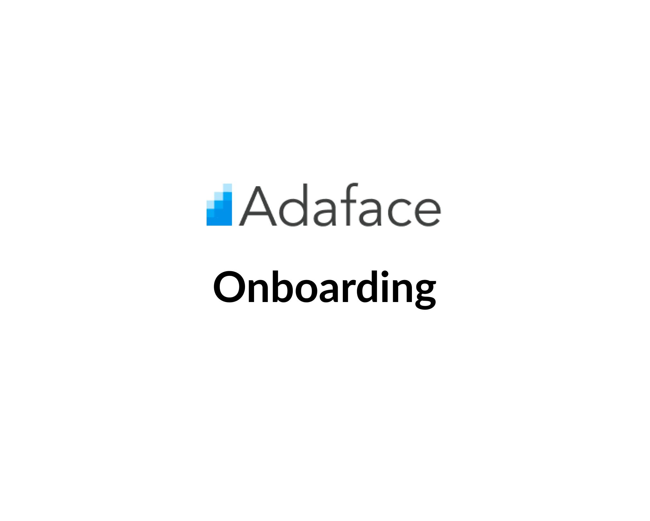 Adaface Onboarding image